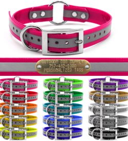Premium-Glow-Tuff-Reflective-Center-Ring-Dog-Collar-