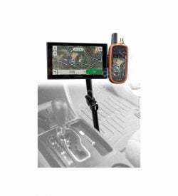 Premium Aluminum Arm Double Mount for Garmin Alpha, Astro & DriveTrack 70 (4 Hole Drill Mount)