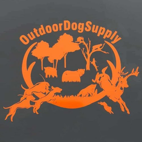 Outdoor Dog Supply Orange Decal